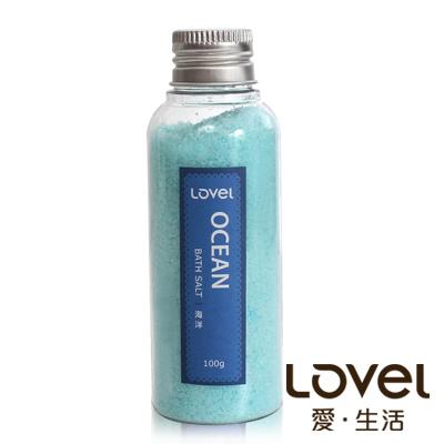 Lovel 天然井鹽/香氛沐浴鹽100g5入組(海洋)