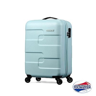 AT美國旅行者 21吋Pu83567zzle Cube炫彩立體拼圖硬殼四輪行李箱(粉綠)