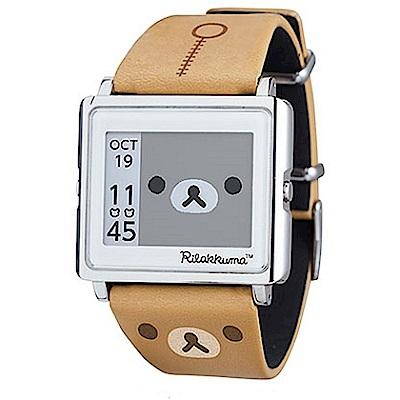 Smart Canvas 拉拉熊 電子紙腕錶 (咖啡色)