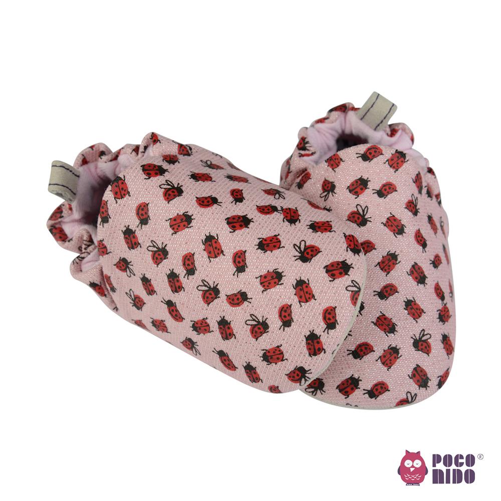 英國 POCONIDO 純手工柔軟嬰兒鞋 (粉紅小瓢蟲)