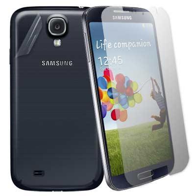 超值二合1 Samsung GALAXY S4 i9500 亮面防刮螢幕貼+機身...