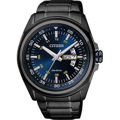 CITIZEN Eco-Drive 空間飆速時尚腕錶(AW0024-58L)-黑/43mm