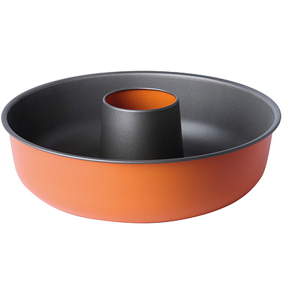 EXCELSA Sweet不沾薩瓦蘭蛋糕模(橘25cm)