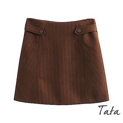 高腰毛呢裙 共二色 TATA