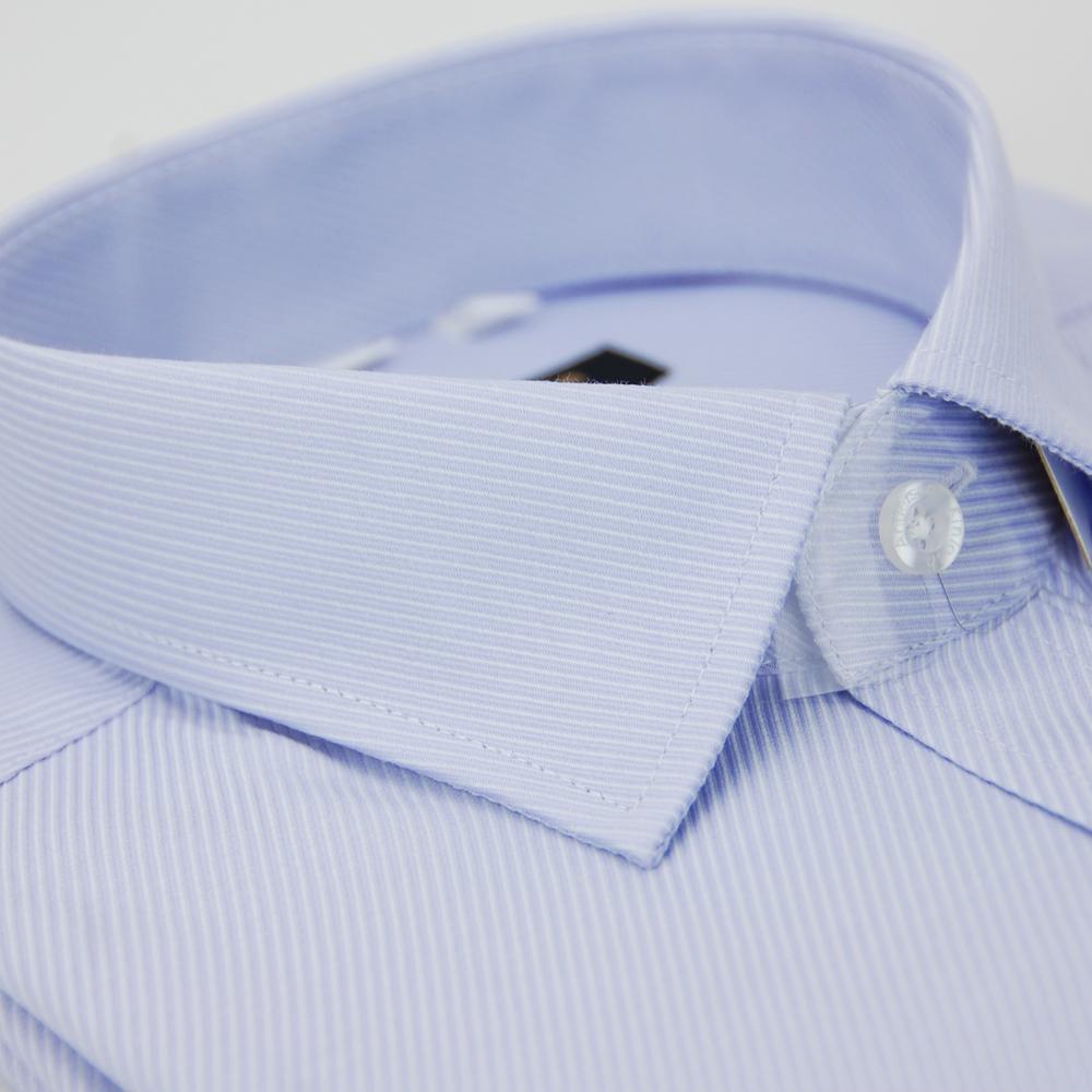 金‧安德森 紫色斜紋窄版長袖襯衫