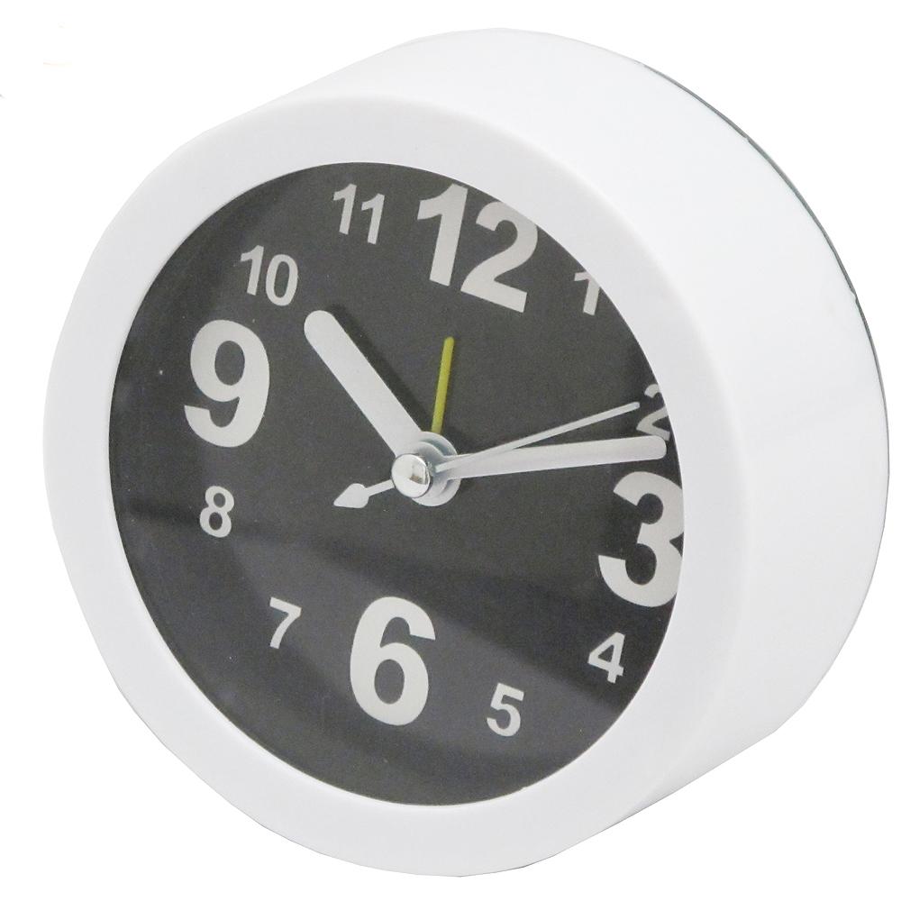 白色經典指針數字圓型鬧鐘台鐘座鐘(LY1191)