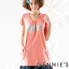 Gennies奇妮-閃亮字母繽紛素面春夏孕婦上衣(G3150)