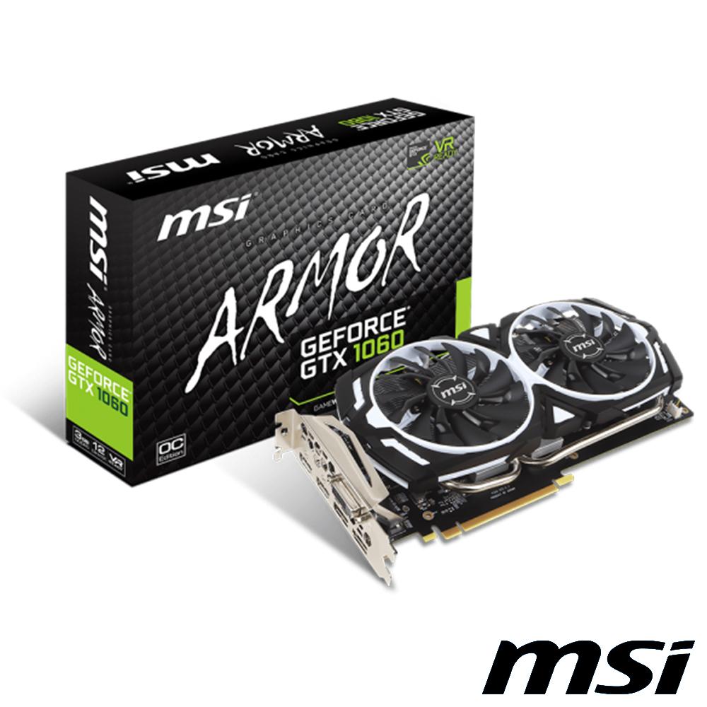 MSI GTX 1060 ARMOR  3GOCV1 Gaming虎