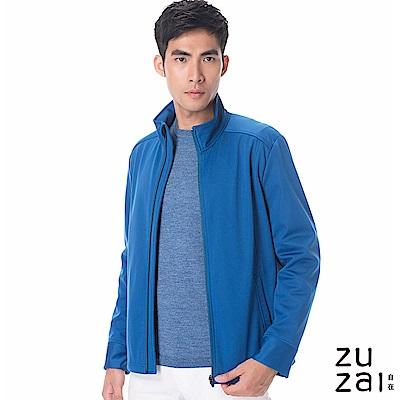 zuzai 自在卓絕立領防水保暖外套-男-藍色