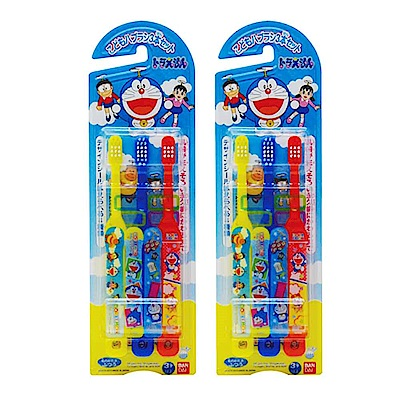 哆啦A夢 Doraemon 兒童牙刷(日本製) (3入x2組)