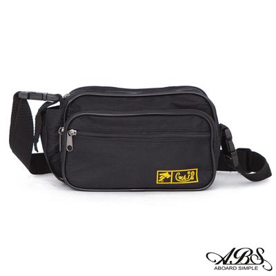 ABS愛貝斯 台灣製造輕量防潑水中型多層腰包 側邊萬用小袋設計(黑)701B