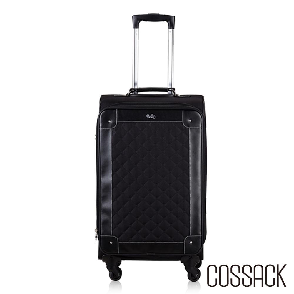 Cossack ELEGANCE優雅23吋可放大行李箱黑色