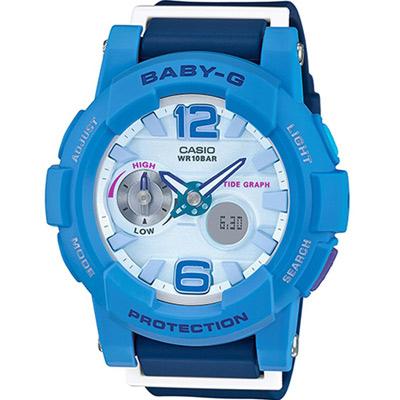 BABY-G 衝浪與滑板極限運動錶(BGA-180-2B3)-藍/44mm