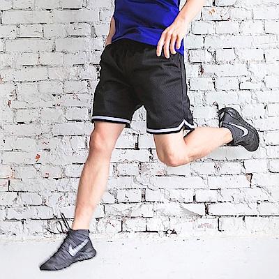 線條滾邊吸濕排汗透氣運動短褲-OB嚴選