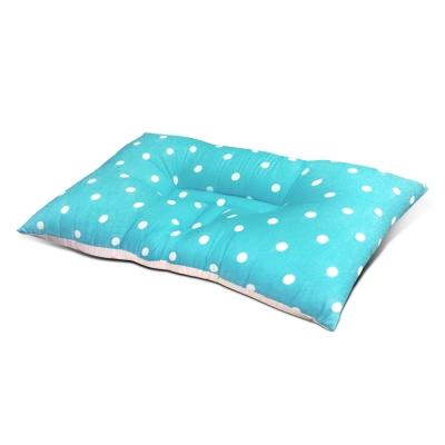 精靈工廠 MIT人體工學天絲雙色點點蝶型護頸枕/三色任選 淺藍+粉紅