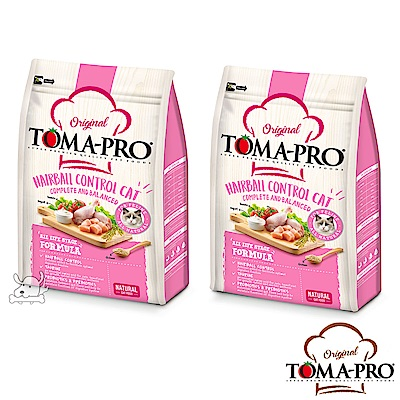 TOMA PRO 優格 化毛高纖 雞肉+米 成幼貓 飼料 3公斤 2包