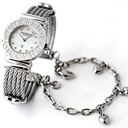 CHARRIOL 夏利豪鎖鍊錶-(白貝)