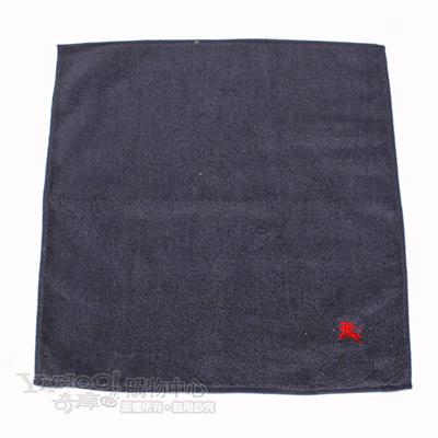 BURBERRY高爾夫球素面小方巾-深藍