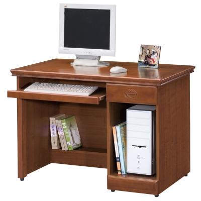 時尚屋 長榮樟木3.5尺電腦桌 寬105cm
