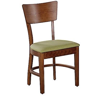 AT HOME-胡桃實木耐磨貓抓皮餐椅(46*42*86cm)瑪蒂