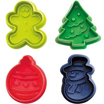 IBILI 餅乾推壓模4件(聖誕節)