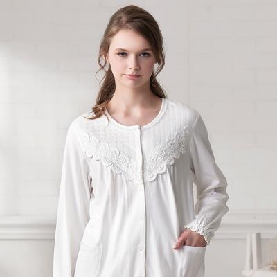 羅絲美睡衣 - 溫柔記憶長袖褲裝睡衣 (純白色)