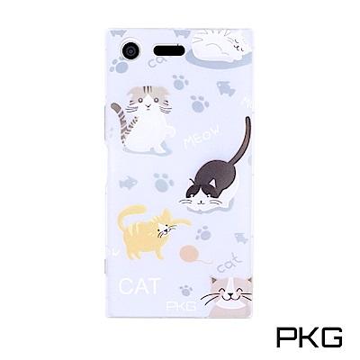 PKG SONY XZ Premium彩繪空壓氣囊保護殼-浮雕彩繪-玩要貓