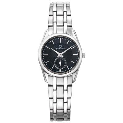 Olympia Star 奧林比亞之星經典都會系列小秒針時尚腕錶-黑/26mm