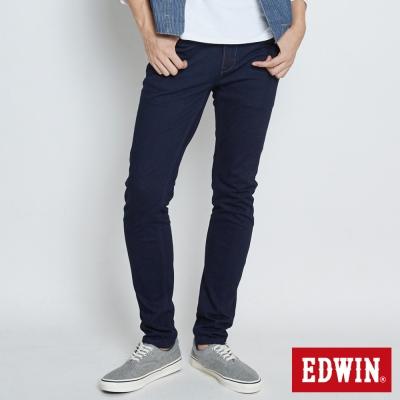 EDWIN 迦績褲JERSEYS復古棉感窄直筒褲-男-原藍色