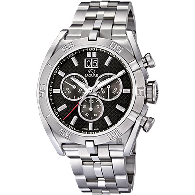 JAGUAR EXECUTIVE 運動計時手錶-黑/46mm