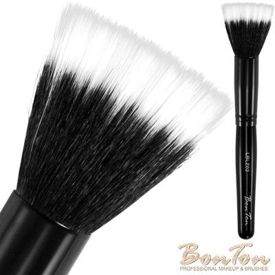 BonTon 墨黑系列 雙層修容/腮紅刷 LBLZ02 白尖峰羊毛混化纖