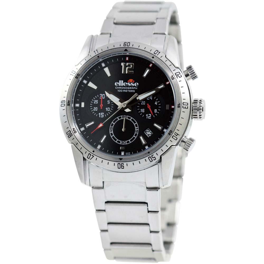 ellesse 突破極限百米計時腕錶-黑/42mm