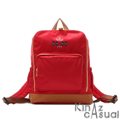 KINAZ casual 英國~輕量優雅2way後背包-紅