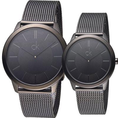 Calvin Klein Minimal穿越愛戀對錶(K3M214B1 K3M224B1)