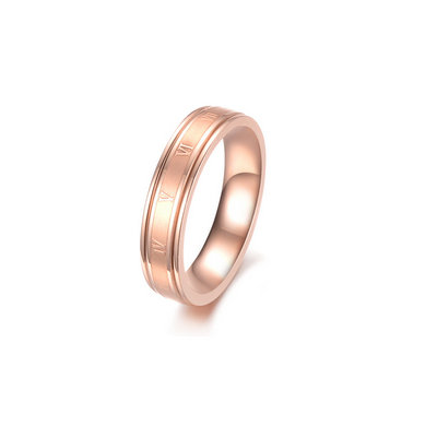 ACUBY 鋼製羅馬時運戒指#5