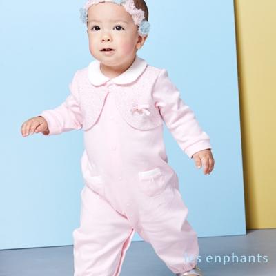 les enphants baby優雅小花假二件式妙妙裝 粉紅