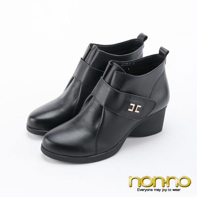 nonno 寬版魔術氈 復古尖頭靴