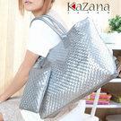 iSPurple 銀色動感 時尚編織大方包