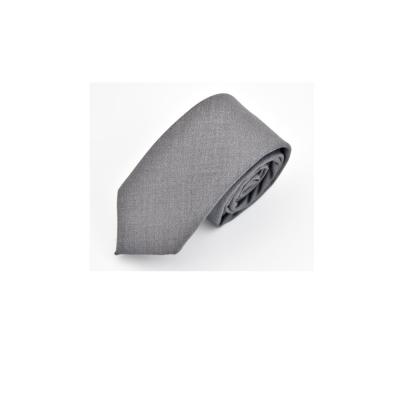 拉福  領帶領帶棉質領帶灰6cm領帶拉鍊領帶