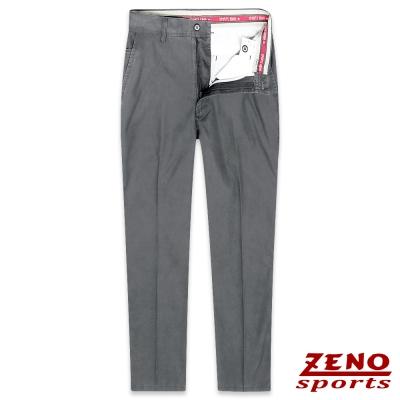 ZENO 有機棉質舒適無摺休閒褲‧經典灰31-42