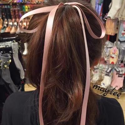 梨花HaNA-韓國東大門絕對浪漫超長緞帶蝴蝶結髮圈