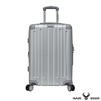 RAIN DEER 米克斯20吋ABS鑽石紋防刮行李箱-太空銀
