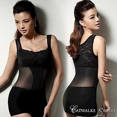 凱渥 美胸美背蕾絲平腹塑身背心(IECS1021黑色)