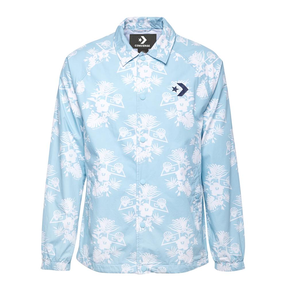 CONVERSE-男風衣外套10005867-A02-水藍