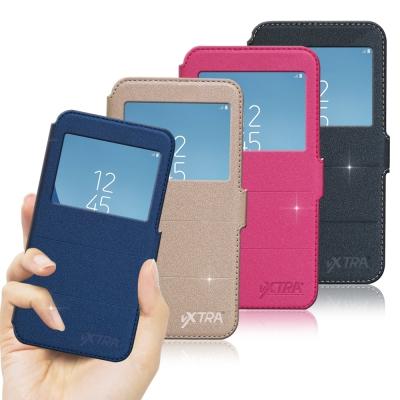 VXTRA Samsung Galaxy J3 Pro 經典金莎紋 商務視窗皮套