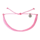 Pura Vida 美國手工 SOLID PINK粉色系可調式手鍊衝浪海灘防水手繩