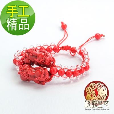 質感紅珊瑚貔貅串珠手鍊