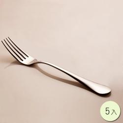 PUSH! 餐具不鏽鋼叉子牛排叉水果沙拉叉西餐叉餐叉5入組E34