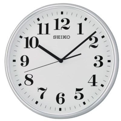 SEIKO 日本精工 數字 滑動式秒針 掛鐘 時鐘(QXA697S)-白/35cm