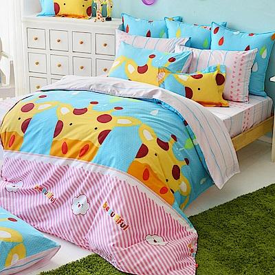 義大利Fancy Belle 晴天小鹿 雙人純棉床包枕套組